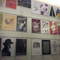 Seria nowoczesnych plakatów wdyrukowana na potrzeby muzeum