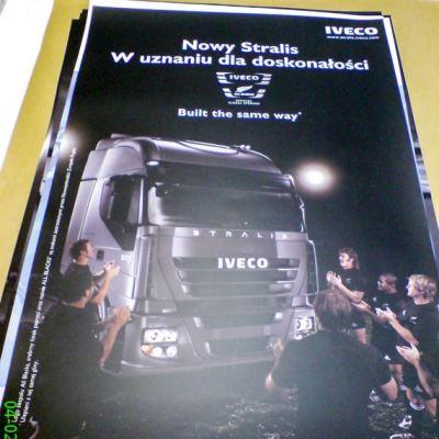 Plakat reklamowy wielkoformatowy IVECO 2
