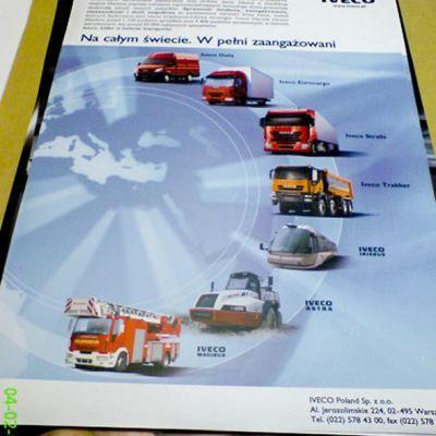 Plakat reklamowy wielkoformatowy IVECO